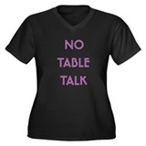 Euchre Table Talk Women's Plus Size V-Neck Dark T-