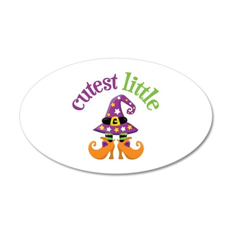 Cutest Witch 35x21 Oval Wall Decal