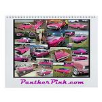 Panther Pink Wall Calendar