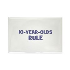 10-Year-Olds~Rule Rectangle Magnet (100 pack)
