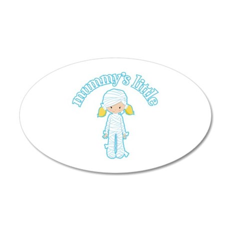 Little Mummy 20x12 Oval Wall Decal