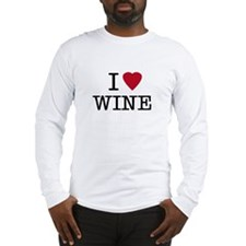 I Heart Wine Long Sleeve T-Shirt