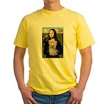 Mona & her Yorkie (T) Yellow T-Shirt