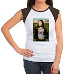 Mona & her Yorkie (T) Women's Cap Sleeve T-Shirt