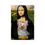 Mona & her Yorkie (T) Rectangle Magnet (10 pack)