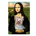 Mona & her Yorkie (T) Postcards (Package of 8)