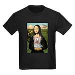 Mona & her Yorkie (T) Kids Dark T-Shirt