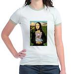 Mona & her Yorkie (T) Jr. Ringer T-Shirt