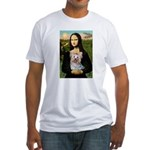 Mona & her Yorkie (T) Fitted T-Shirt
