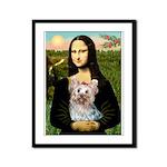 Mona & her Yorkie (T) Framed Panel Print