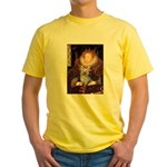 The Queen's Yorkie (T) Yellow T-Shirt