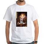 The Queen's Yorkie (T) White T-Shirt