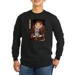 The Queen's Yorkie (T) Long Sleeve Dark T-Shirt