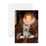 The Queen's Yorkie (T) Greeting Card