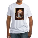 The Queen's Yorkie (T) Fitted T-Shirt
