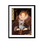 The Queen's Yorkie (T) Framed Panel Print