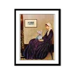 Mom's Yorkie TESS Framed Panel Print