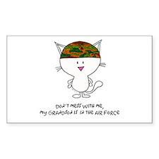 dont mess with me..grandson a Sticker (Rectangular