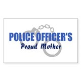 Police Officer's Mother Rectangle Decal