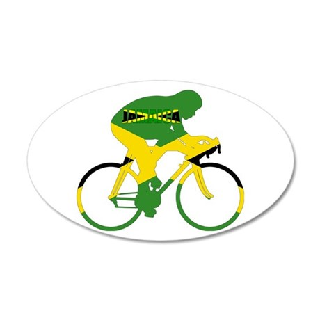 Jamaica Cycling 20x12 Oval Wall Decal