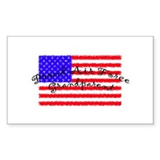 Proud Air Force Grandparent Rectangle Decal