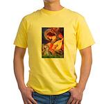 Mandolin Angel & Yorkie (T) Yellow T-Shirt