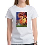 Mandolin Angel & Yorkie (T) Women's T-Shirt