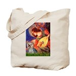 Mandolin Angel & Yorkie (T) Tote Bag