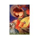 Mandolin Angel & Yorkie (T) Rectangle Magnet (10 p