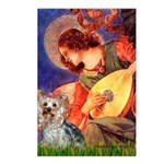 Mandolin Angel & Yorkie (T) Postcards (Package of
