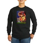 Mandolin Angel & Yorkie (T) Long Sleeve Dark T-Shi
