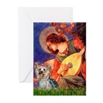 Mandolin Angel & Yorkie (T) Greeting Cards (Pk of