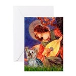 Mandolin Angel & Yorkie (T) Greeting Card