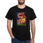 Mandolin Angel & Yorkie (T) Dark T-Shirt