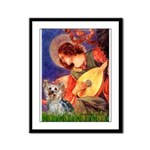 Mandolin Angel & Yorkie (T) Framed Panel Print