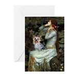Ophelia's Yorkie (T) Greeting Cards (Pk of 20)