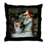 Ophelia's Yorkie (T) Throw Pillow