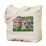 LILIES / Yorkie (T) Tote Bag