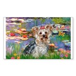LILIES / Yorkie (T) Sticker (Rectangle)