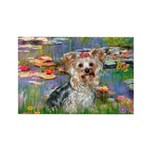 LILIES / Yorkie (T) Rectangle Magnet (10 pack)