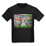 LILIES / Yorkie (T) Kids Dark T-Shirt