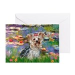LILIES / Yorkie (T) Greeting Card