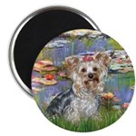 LILIES / Yorkie (T) Magnet