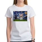 Starry Night Yorkie (T) Women's T-Shirt