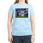 Starry Night Yorkie (T) Women's Light T-Shirt