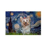 Starry Night Yorkie (T) Rectangle Magnet (10 pack)