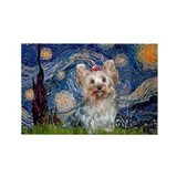Starry Night Yorkie (T) Rectangle Magnet