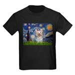Starry Night Yorkie (T) Kids Dark T-Shirt