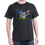 Starry Night Yorkie (T) Dark T-Shirt