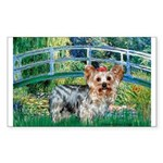 Bridge / Yorkie (T) Sticker (Rectangle)